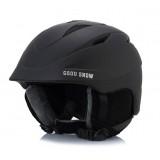 Горнолыжный шлем GSOU SNОW, черный матовый, L GS-01