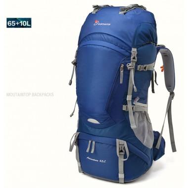 Рюкзак Mountaintop 65+10L цвет синий, трекинговый рюкзак, рюкзак для туризма, рюкзак для многодневных походов