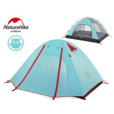 Трехместная палатка, NatureHike NH15Z003-P, P Series, палатка Naturehike, цвет голубой