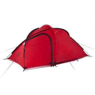 Трекинговая палатка Naturehike Hiby (2-3-местная) 20D silicone, NH18K240-P, цвет красный, вес 2.6 кг