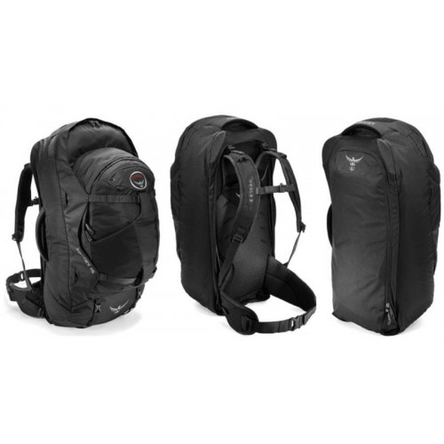 6c486b22ce17 Сумка-Рюкзак Osprey Farpoint 55, цвет Volcanic Grey, сумка для путешествий  ...