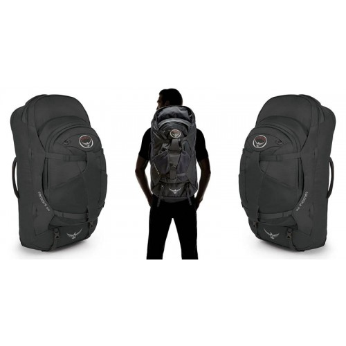 eec26db9aa7f ... Сумка-Рюкзак Osprey Farpoint 55, цвет Volcanic Grey, сумка для  путешествий ...
