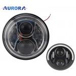 """Комплект фар Aurora 7"""" головного света ALO-M-1C, DRL, 2шт"""