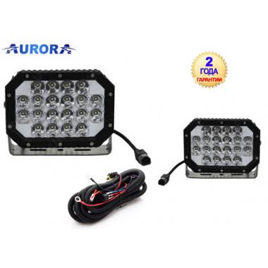 Комплект фар 2шт, Aurora ALO-L-6-P7E7K, 60W, 18.6 см, ФАРА AURORA, Комбинированного белого света