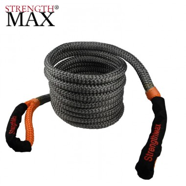 Стропа динамическая рывковая, Strength Max для тяжелых внедорожников, длина 9 метров, нагрузка 16228кг, растяжение 30%