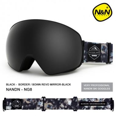 Маска NANDN NG82 черная для лыж и сноуборда, Горнолыжные маски, очки - купить с доставкой