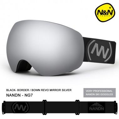 Маска NANDN NG7 серая для лыж и сноуборда, Маски горнолыжные: продажа, цена в Алматы