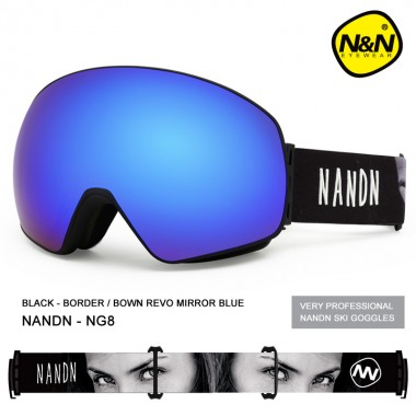 Маска NANDN NG8 синяя для лыж и сноуборда, Горнолыжные маски, очки - купить с доставкой