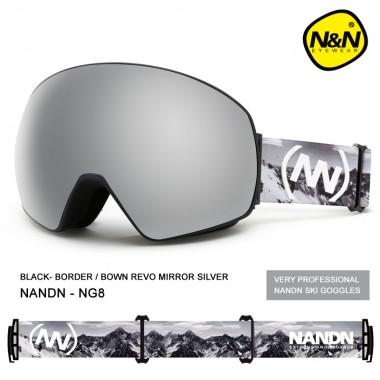 Маска NANDN NG82 серая для лыж и сноуборда, Купить горнолыжные и сноубордические маски, лыжные маски в Алматы