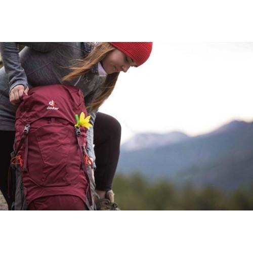 Женский рюкзак Deuter Aircontact Lite 45+10 SL (модель 2018), цвет maron-graphite, для горных походов