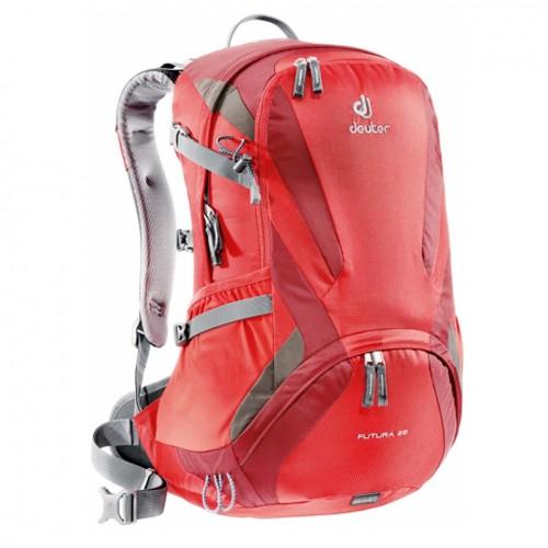 Deuter Futura 28, цвет красный, Предназначен для города, пеших и велопоходов, альпинизма.
