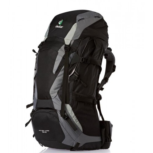 Рюкзак Deuter Futura Vario 50+10, цвет black-titan, рюкзак для дальних походов в горы и треккинга