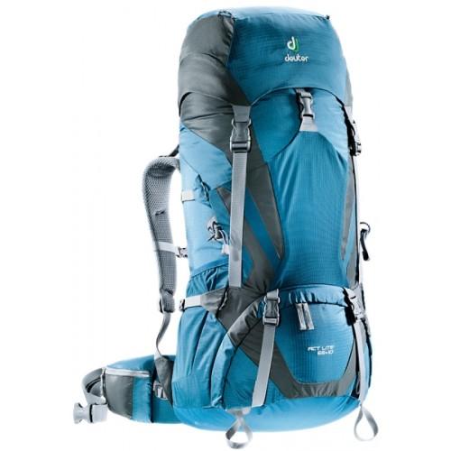 Рюкзак туристический Deuter ACT Lite 65+10, цвет темно синий, туристические рюкзаки в Алматы
