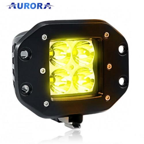 AURORA ALO-E-2-E4A, врезная фара противотуманная, фара янтарного света, 12W