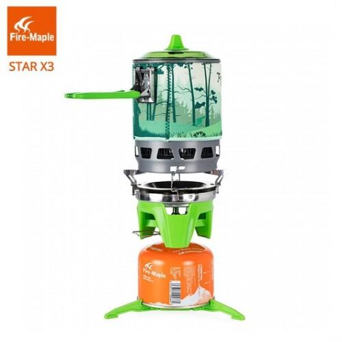 Портативная система приготовления пищи на открытом воздухе, Газовая горелка Fire-Maple STAR X3, 0.8 л