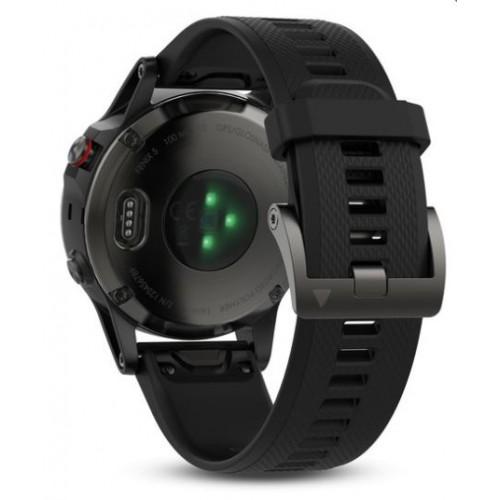 Спортивные часы Garmin Fenix 5 серые с черным ремешком, часы с GPS и ГЛОНАСС, 010-01688-00