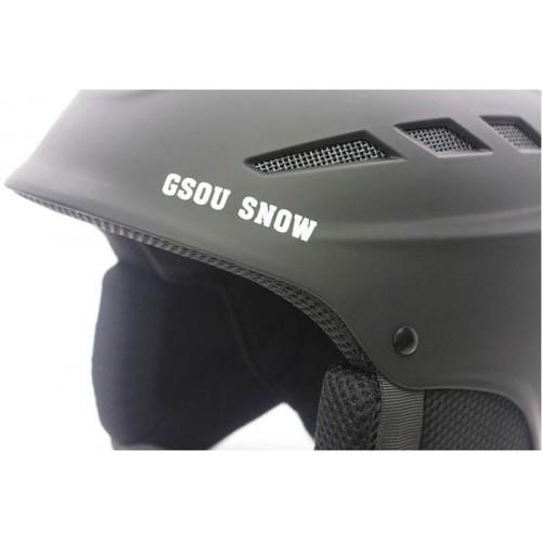 Горнолыжный шлем GSOU SNОW, цвет черный матовый, размер L (58-62cm), Горнолыжные шлемы - Большой выбор и все размеры