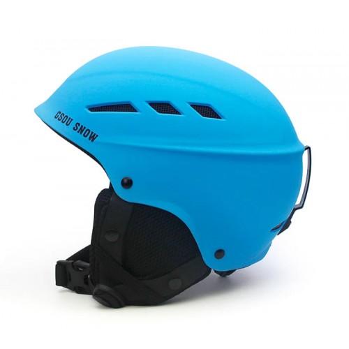 GSOU SNОW, Шлем горнолыжный GSOU SNОW, цвет голубой матовый, размер L (58-62cm), с доставкой по Казахстану