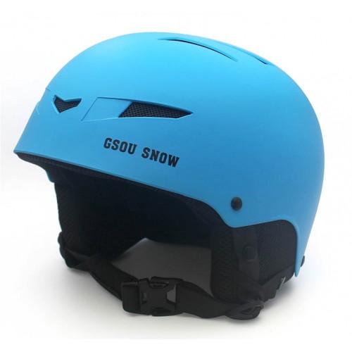 Купить Шлем горнолыжный GSOU SNОW, цвет голубой матовый, размер L (58-62cm), с доставкой по Казахстану