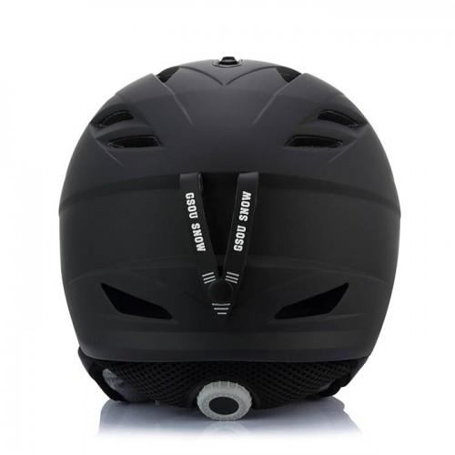 Горнолыжный шлем GSOU SNОW, цвет черный матовый, размер L (58-62cm), Горнолыжные шлемы в Алматы