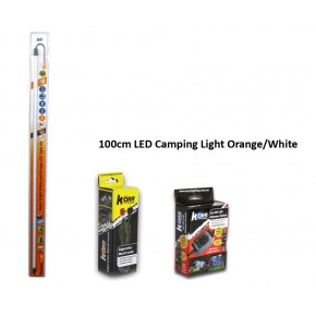 100cm LED Camping Light Orange/White KIT, Australia