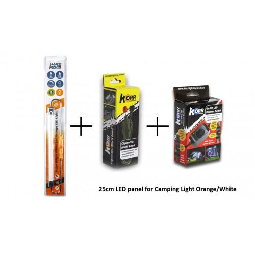 25cm панель ORANGE/WHITE LED LIGHT BAR, в комплекте диммер и кабель 12вольт