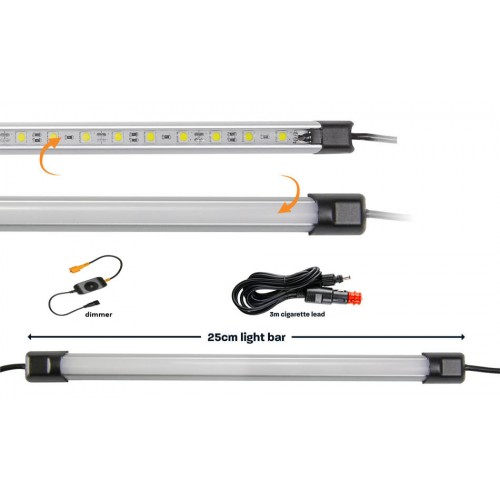 25cm панель WHITE LED LIGHT BAR, в комплекте диммер и кабель 12вольт