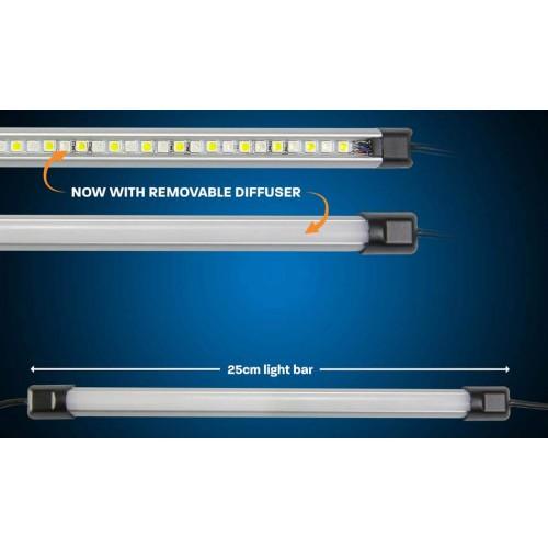 25cm панель ORANGE/WHITE LED LIGHT BAR, Светодиодные панели для освещение лагеря, свет из Австралии