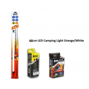 48cm LED Camping Light Orange/White KIT, Australia