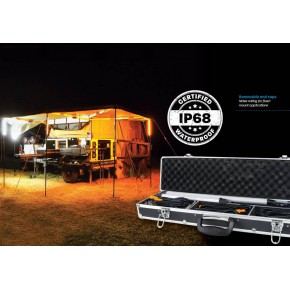 Освещение для кемпинга, LED Camping Light Kit 4 Bar Orange/White, Australia
