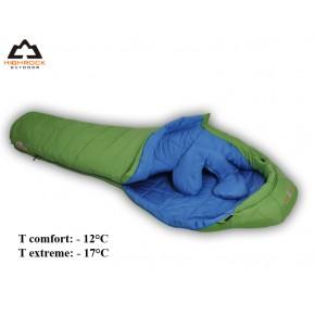 Спальный мешок High Rock зеленый, зимний -7-12, длина 205см