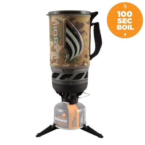 Jetboil Flash Camo, Туристическая горелка, Комплект горелка с кастрюлей 1л