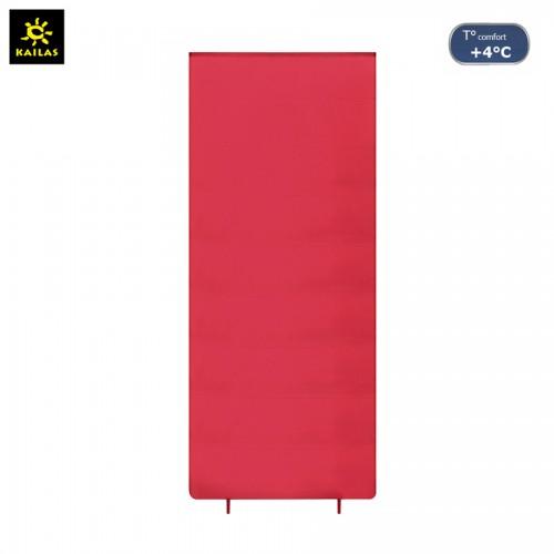 Спальный мешок Kailas Journey 0, +4°С -2°С, вес 1.4кг (EN 13537), KB220011, красный