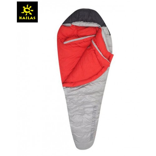 Спальный мешок пуховый Kailas Trek 800, -5°С -15°С, вес 1.6кг (EN 23537), KB110017, цвет серый