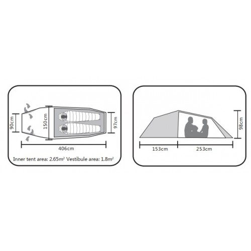 Двухместная легкая палатка, Kailas Pterosauria Camping Tent 2P, KT320028, Легкая 4-х сезонная палатка