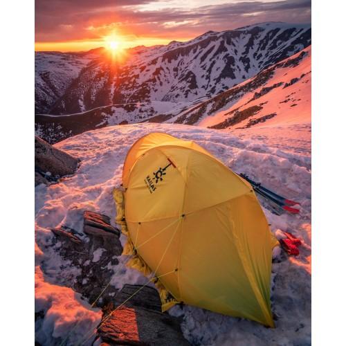 Трехместная палатка Kailas X3 II Alpine Tent, палатка на 4 сезона с юбкой, KT130010