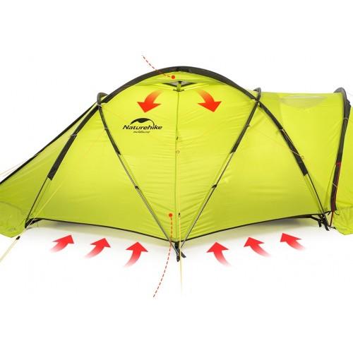 Палатка двухместная NatureHike Lgloo 2, NH19ZP012, вес 5,8кг, всесезонная палатка