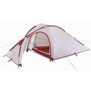 Палатка Naturehike Hiby III (2-3-местная) silicone, цвет серый, вес 3.2 кг New