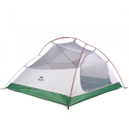 Палатка трехместная NatureHike Cloud3, NH18T030-T, цвет green, вес 2.6 кг, обновленная модель 2019