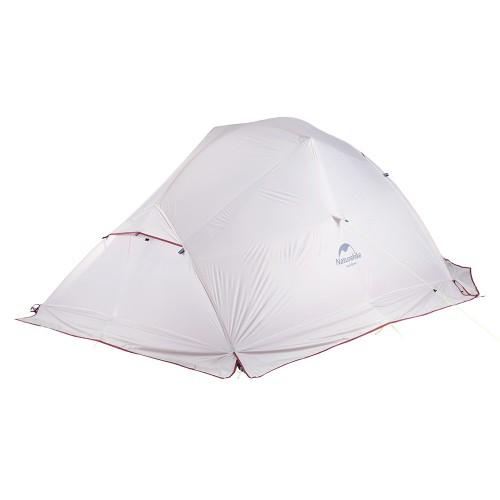Легкая трехместная палатка, NatureHike Cloud3, цвет grey, вес 2.2 кг, обновленная модель, со снегозащитной юбкой
