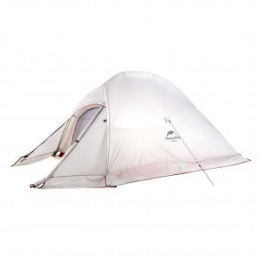 Двухместная палатка NatureHike Cloud2 Ultralight (2019) с юбкой, цвет Grey, вес 1.8 кг
