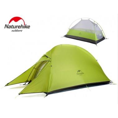 Двухместная палатка, NatureHike Cloud2 Ultralight, цвет green, вес 1.5 кг, обновленная модель 2019