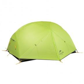 Двухместная палатка NatureHike Mongar 2 Ultralight, 20D, цвет green, вес 2,1кг