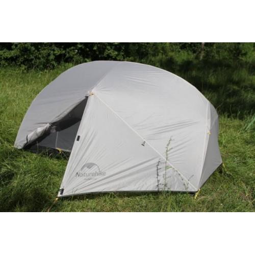 Палатка 2-х местная туристическая с тамбуром, NH17T007-M, цвет grey, вес 2,1кг