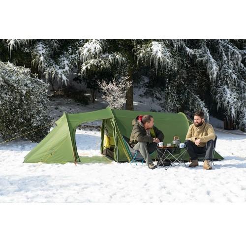 Трекинговая палатка трехместная Naturehike Opalus 3, цвет зеленый, вес 2.8 кг, с большим тамбуром