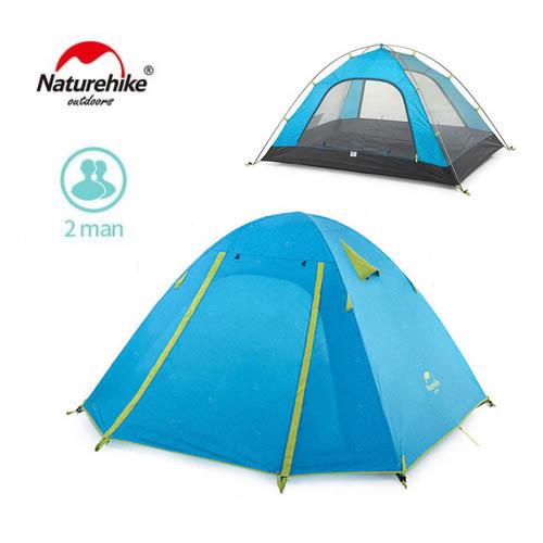 2-х местная палатка NatureHike NH15Z003-P, NH15Z002-P, цвет голубой