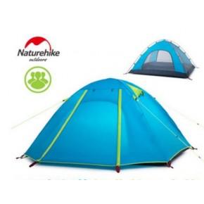 Трехместная палатка NatureHike P Series, цвет голубой, вес 2.4кг
