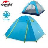 4-х местная палатка NatureHike P Series, цвет голубой, вес 2.6кг