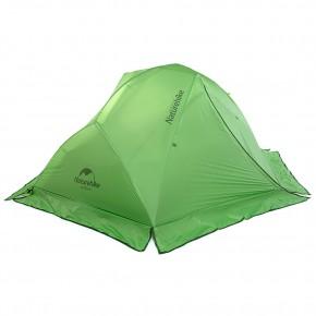 Двухместная палатка NatureHike Star River 2 Ultralight, со снегозащитной юбкой, цвет зеленый, вес 2,2 кг