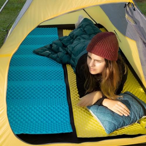 Утолщенный 2,5см складной коврик влагостойкий, ультра лёгкий каремат, 4-х сезонный, NH20FCD07, желтый